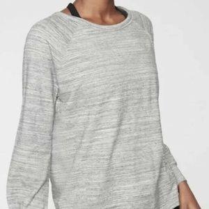 Women's Athleta Mari Grey Bandha Sweatshirt Size M